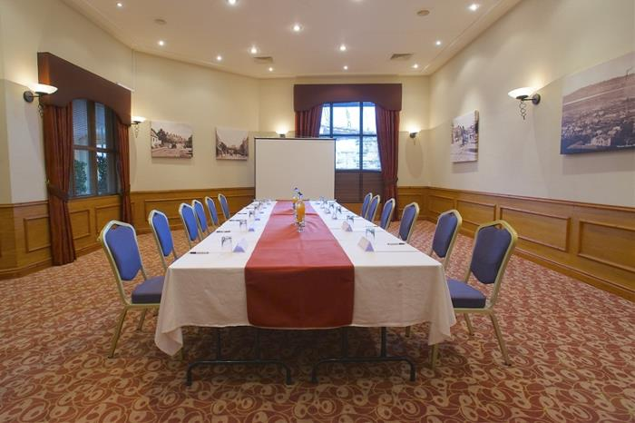 Delamere Suite set up for a conference Boardroom style