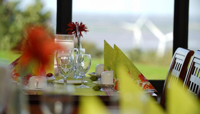 Hilltops Restaurant at Best Western Forest Hills Hotel, with wonderful views over the Estuary