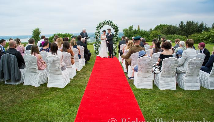 Getting married outside with the panoramic view